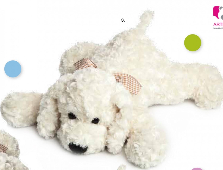 Perro de peluche beige 55cm.